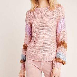 Anthropologie Heartloom Mae Metallic Pullover